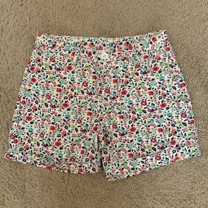 Gap Kids Girls Floral Cuffed Denim midi Shorts